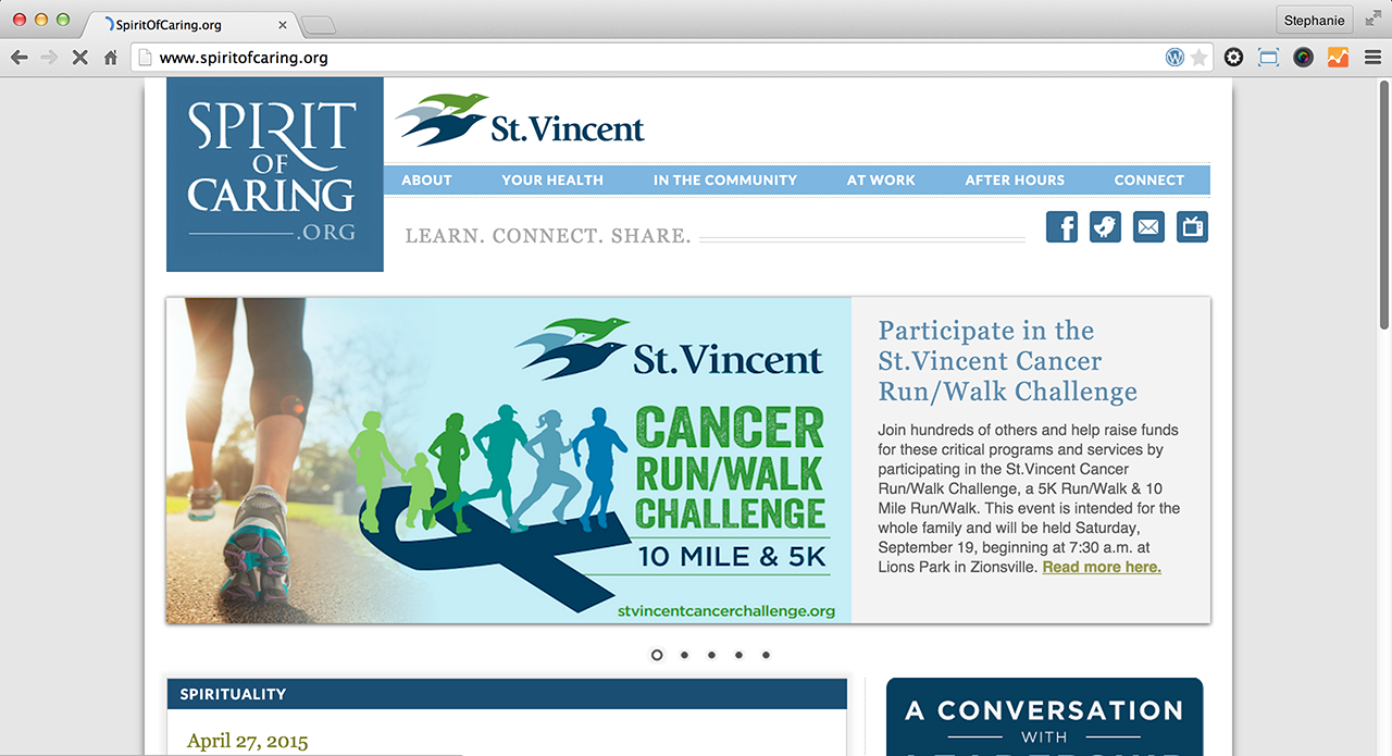 St.Vincent: Spirit of Caring Website