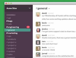 Slack in action (via Slack.com).
