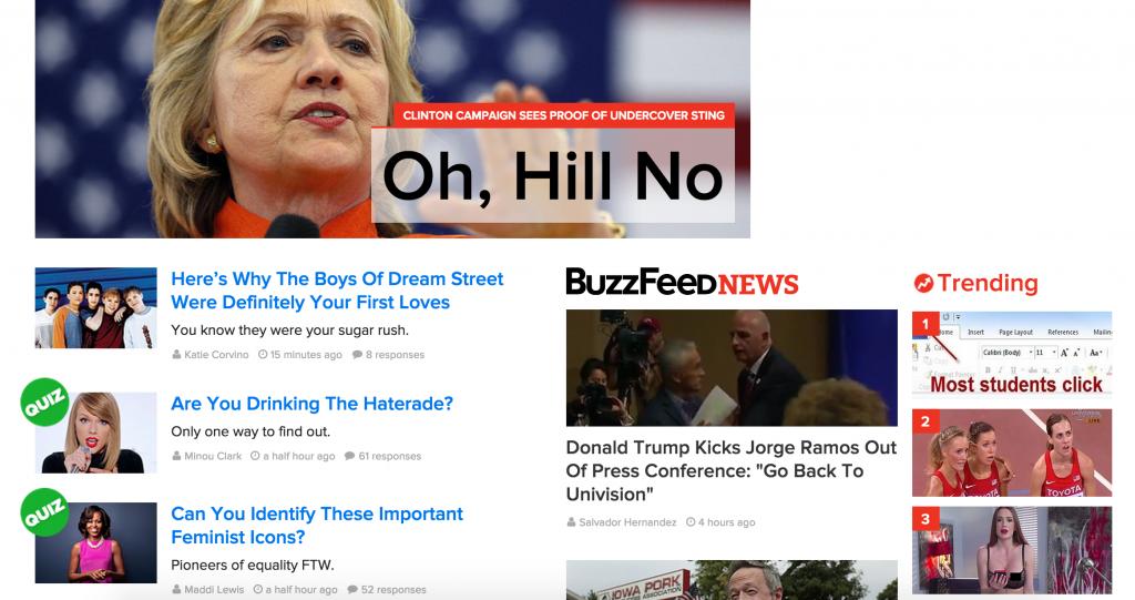 BuzzFeed with AdBlock
