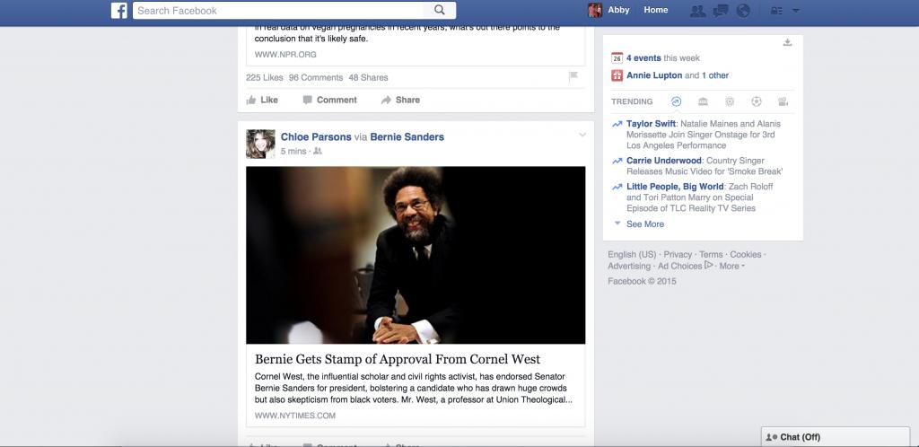 Facebook with AdBlock