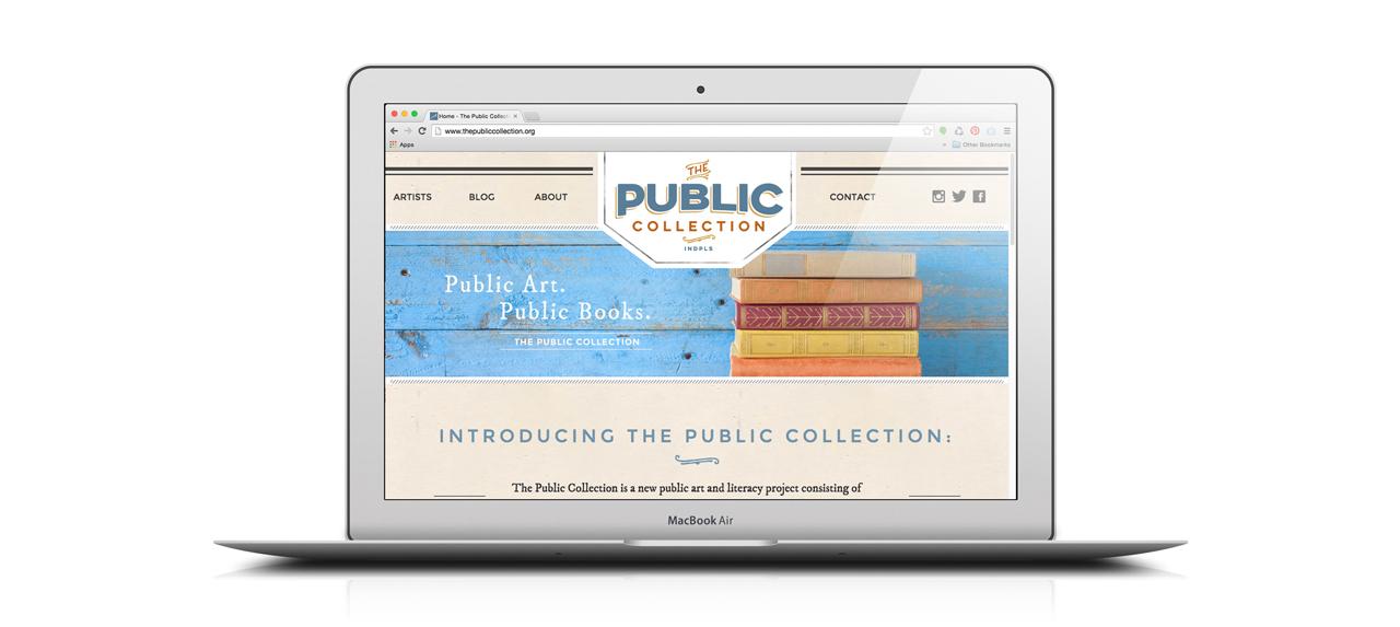 The Public Collection Website Desktop