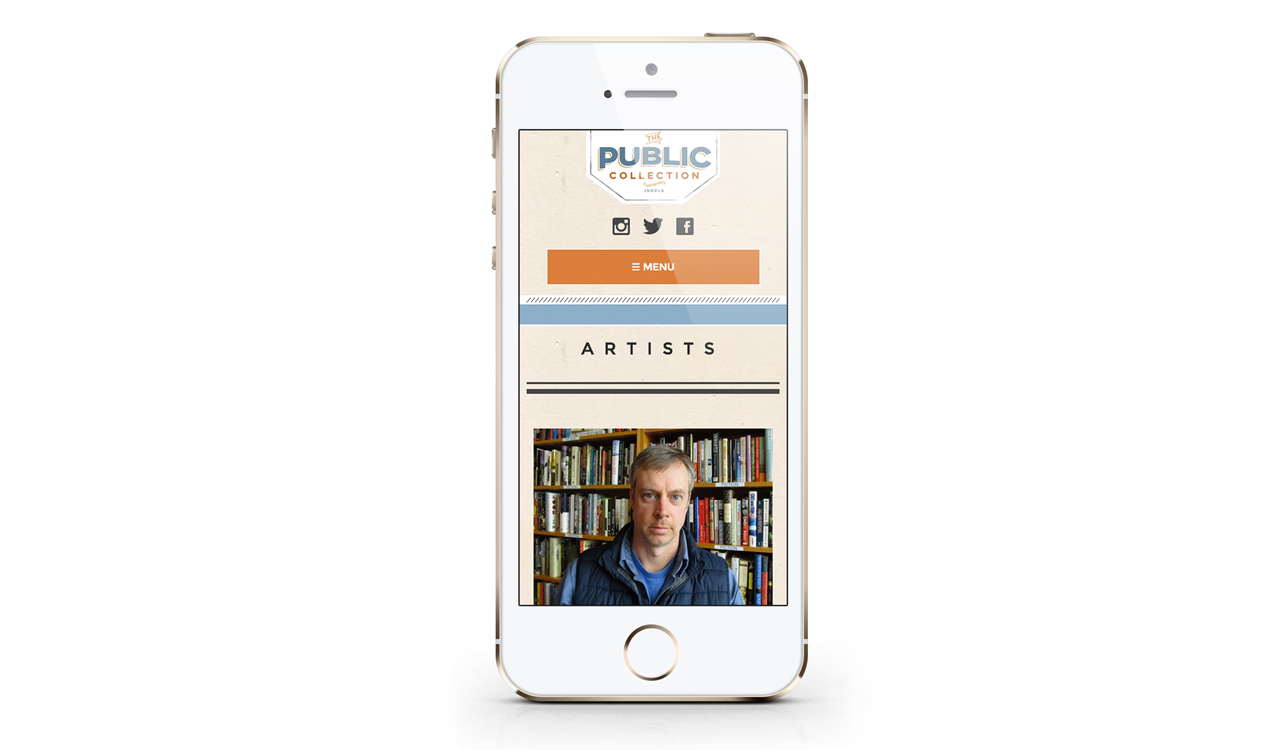 The Public Collection Website Mobile