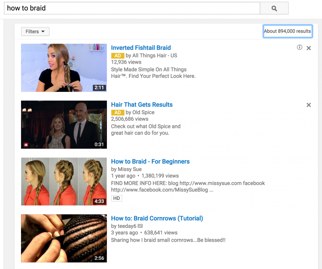 Hair braid search results