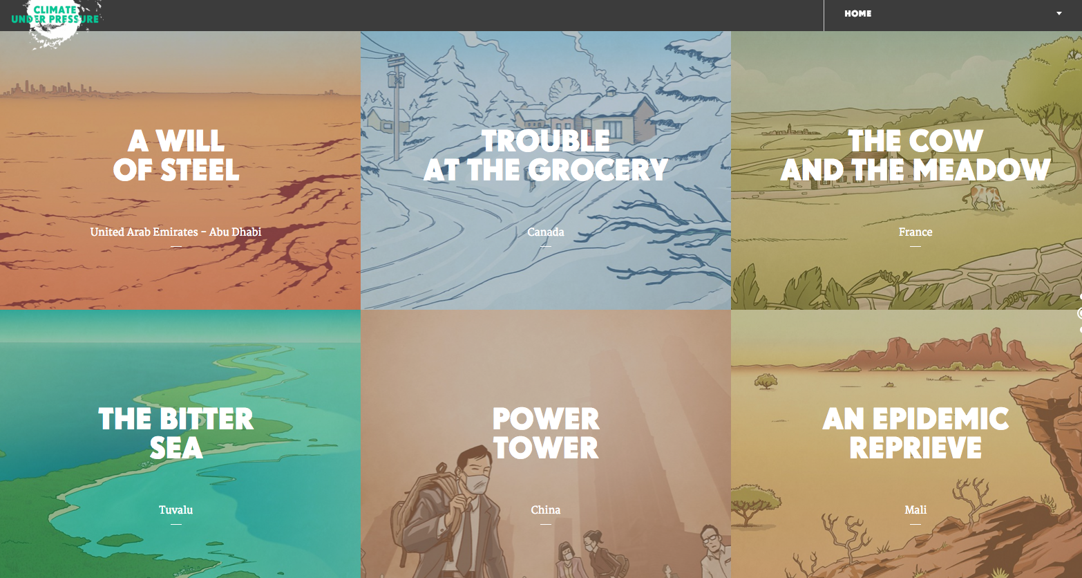 Best Websites of 2015 - Climate Under Pressure