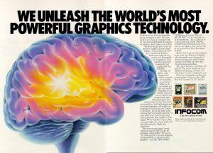 Infocom magazine ad - We Unleash the World's Most Powerful Graphics Technology