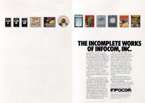 Infocom magazine ad - The Incomplete Works