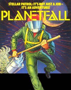 Infocom's Planetfall, grey box packaging
