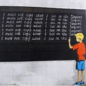 I-Must-Not-Copy-What-I-See-on-Simpsons-by-Banksy