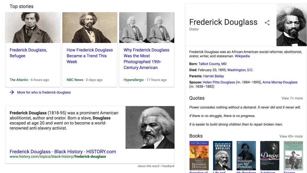 Frederick Douglass Search Results
