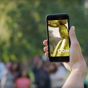 Jeff Koons Snapchat art