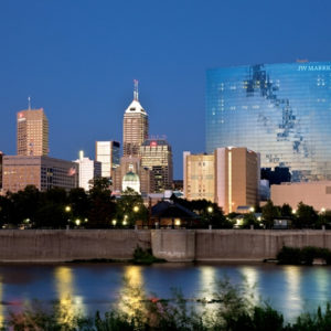 Indianapolis skyline at night
