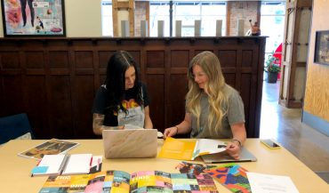 Jenny Tod and Brittany Mason at work