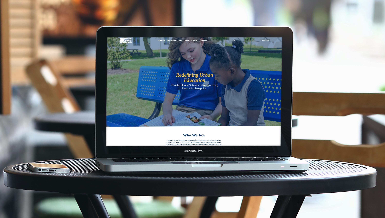 Christel House homepage mockup