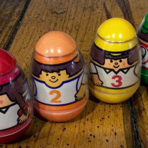 Four classic Weebles