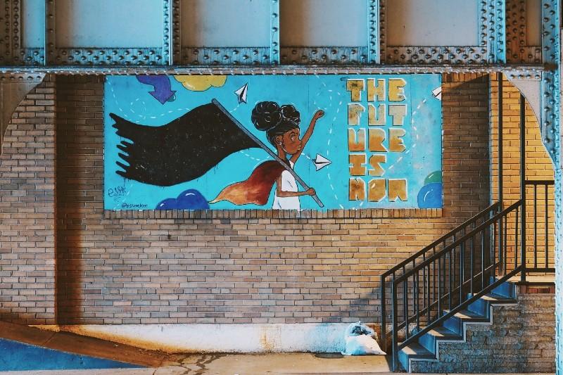 Ess McKee racial justice mural