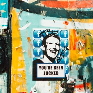 Mark Zuckerberg street art