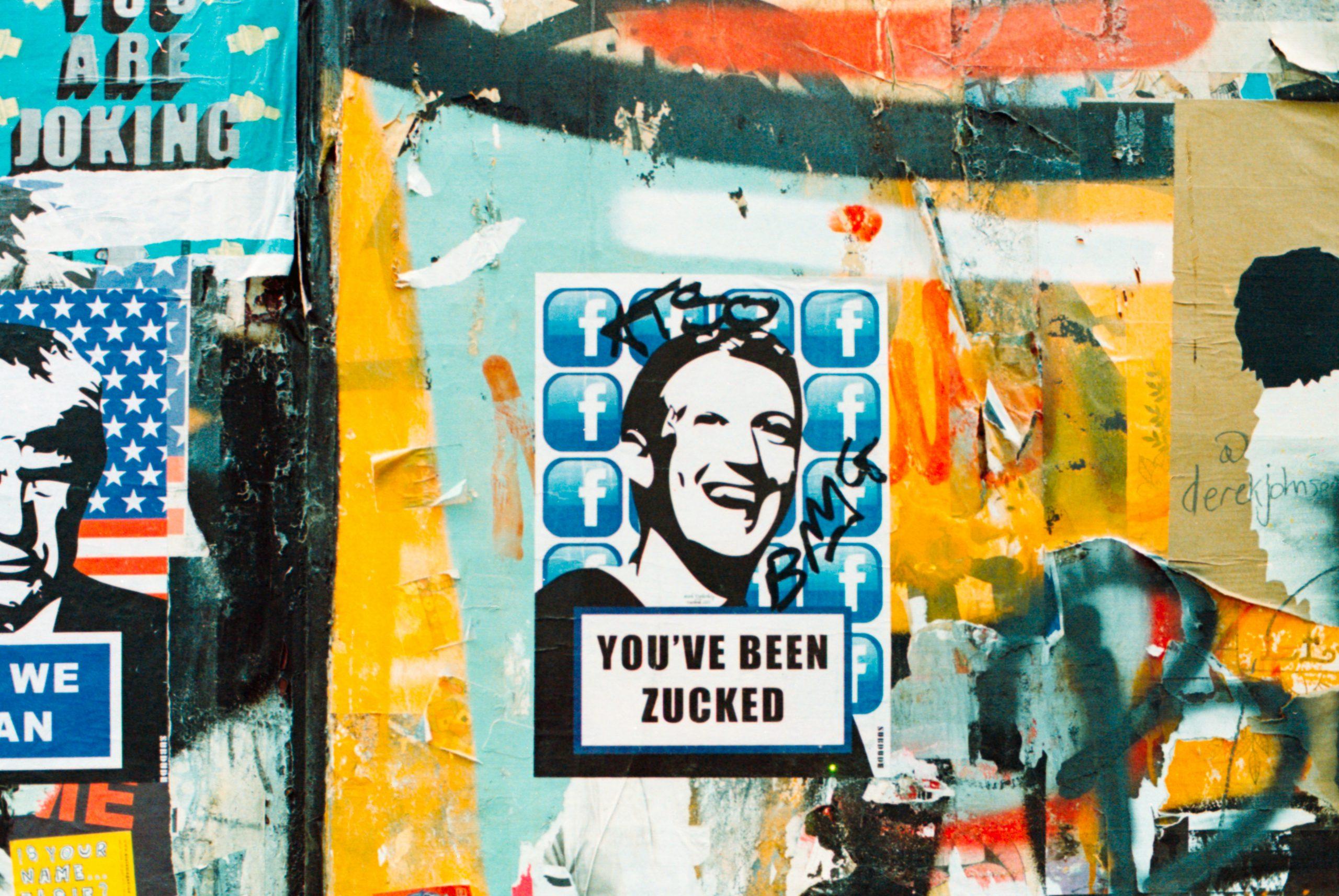 Mark Zuckerberg street art