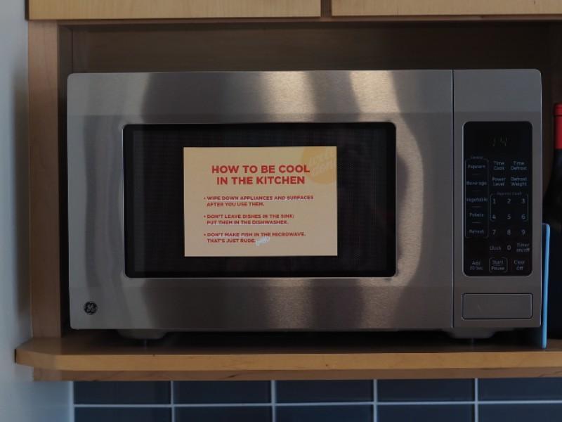 Wipe down kitchen sign