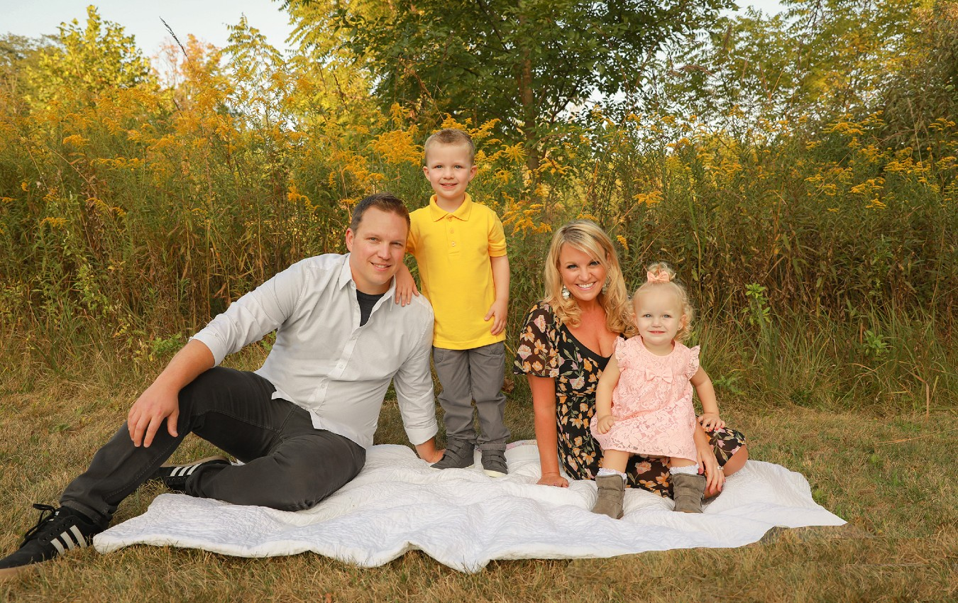 Brent Smith and his family