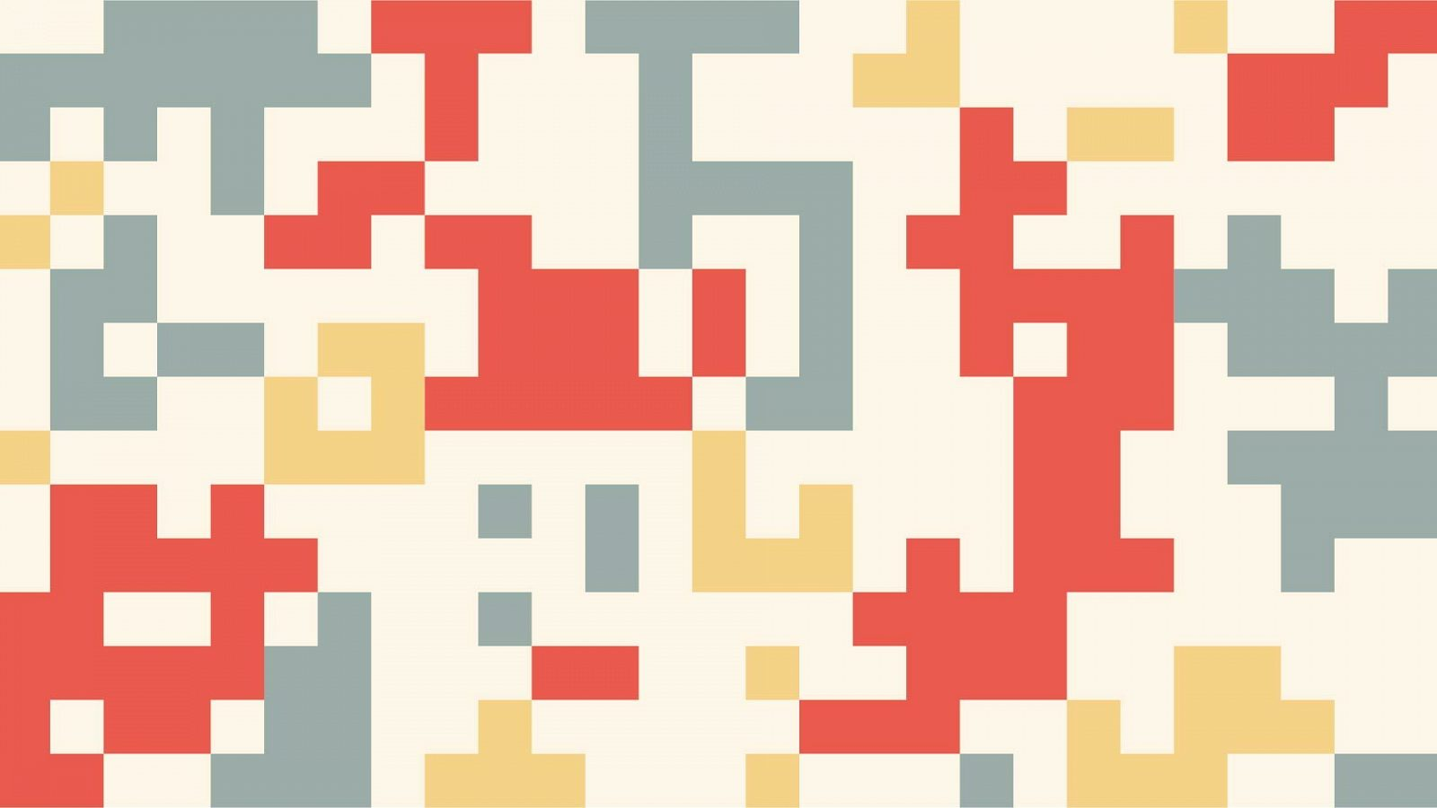 QR code-like grid in Well Done blue, red, and yellow