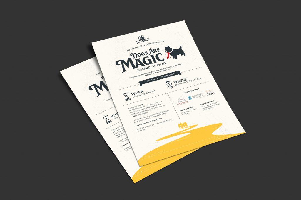 Dogs Are Magic fundraiser invitation