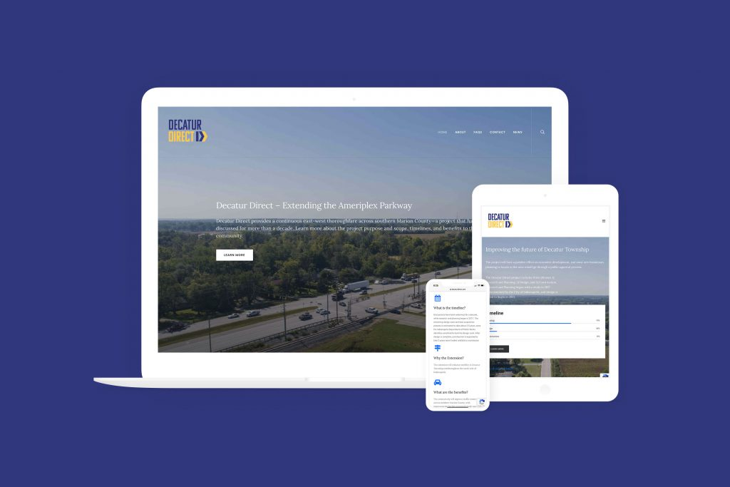 Decatur Direct website displayed on mobile devices