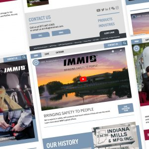 Collage of IMMInet.com page screenshots