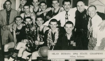 Milan High School championship basketball team