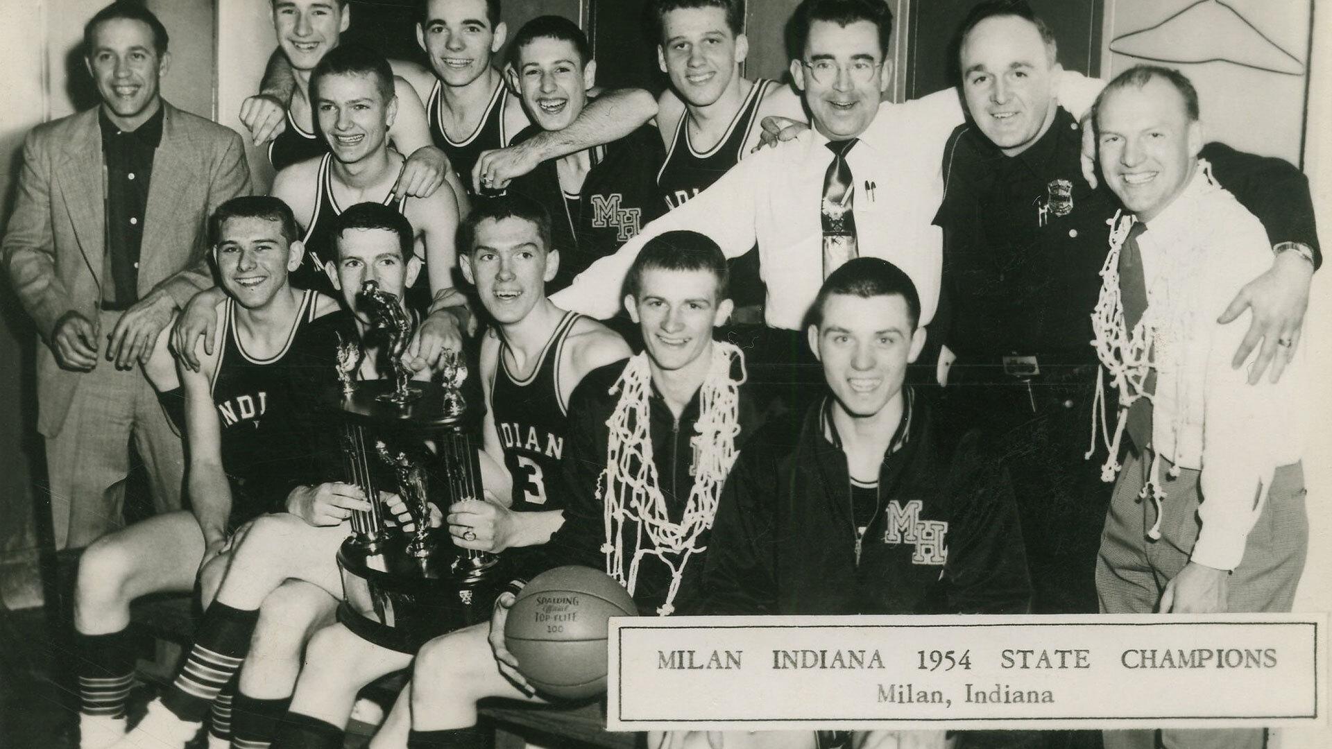 Milan High School championship basketball team