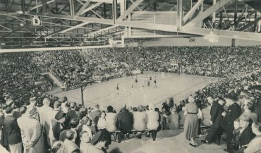 Huntingburg High School gym, circa 1955