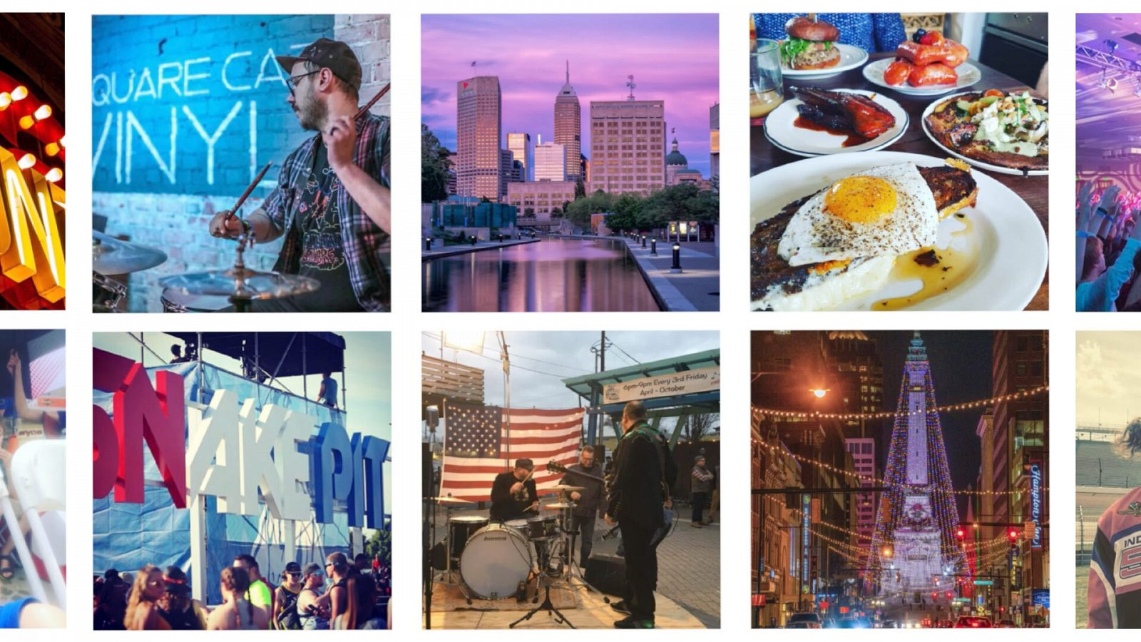 A collage of Indy Instagram moments