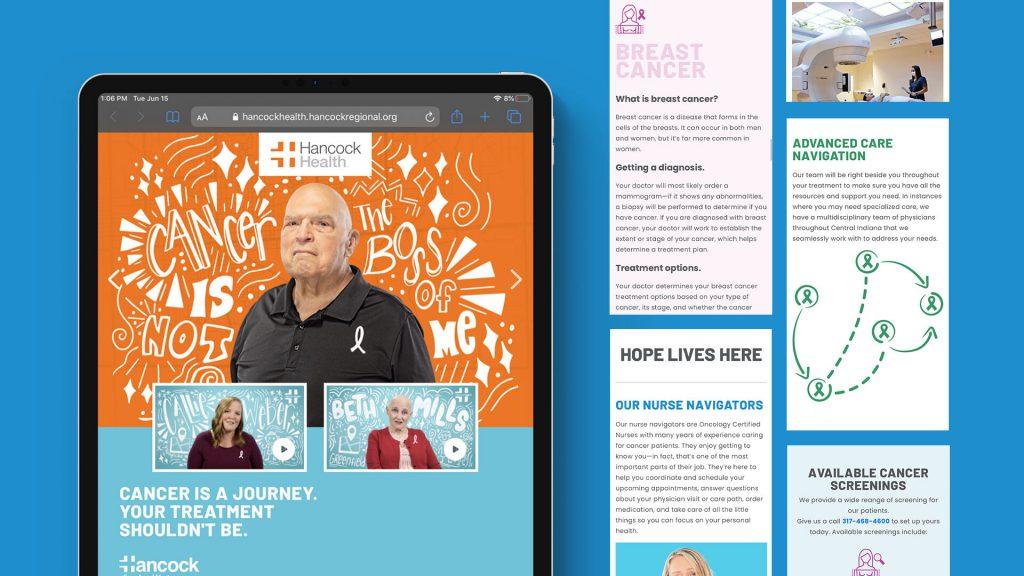 Hancock cancer campaign landing page