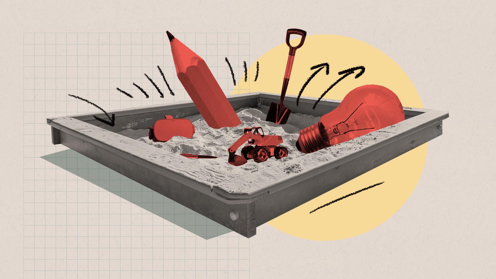 Illustration of a sandbox